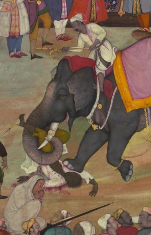 War elephant of the Mughals
