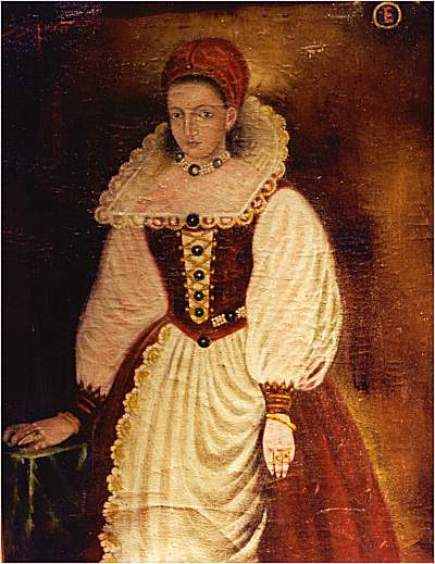 Portrait of Elizabeth Bathory, by unknown artist