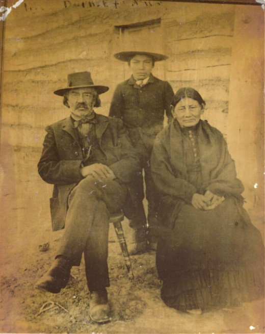 Fred Dupree, his wife Mary Good Elk Woman and their grandson