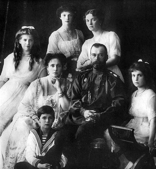 The Russian royal family has strong ties with both the English royal family and the German Kaiser. The entire family is murdered by the Bolsheviks in the name of reform.