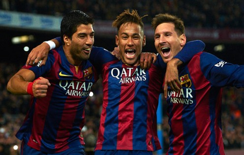 Suarez + Neymar + Messi = MSN