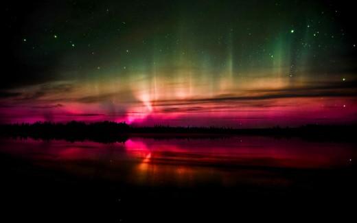 the rare pink aurora...