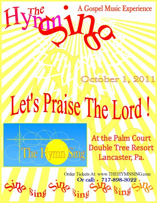 The poster for The Hymn Sing in 2011.