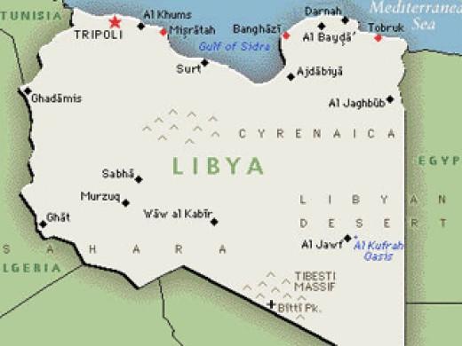 Map Of Libya.