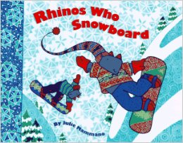 Rhinos Who Snowboard by Julie Mammano