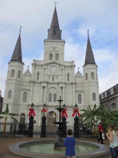 St. Paul's Cathedral, across the square from New Orleans Famous Beignets and Coffee