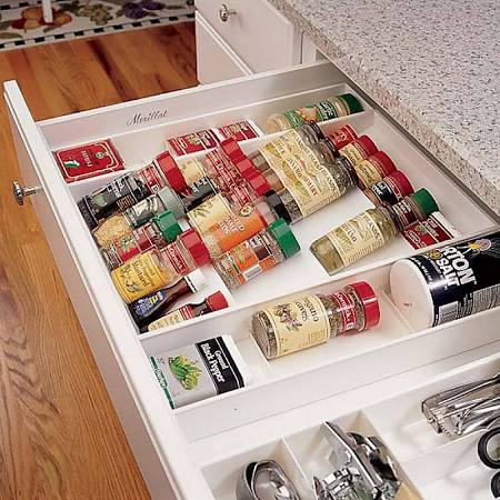 Spice organizer offered by the company Improvements
