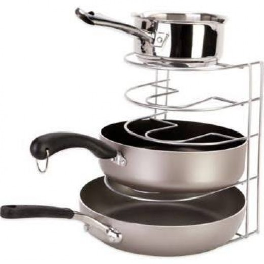 Grayline pots and pans organizer, Bed Bath and Beyond