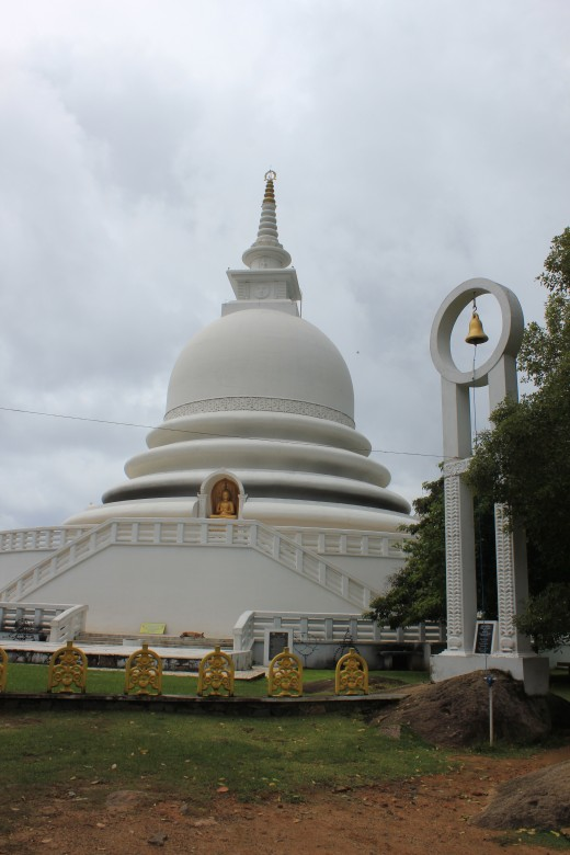 One of the 80 Japanese peace pagoda