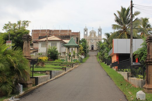 St. Mary's Cathedral, Galle built in late 19th century.