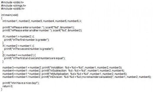 Code Sample A