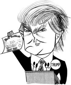 An actual portrait of Mr. Trump?