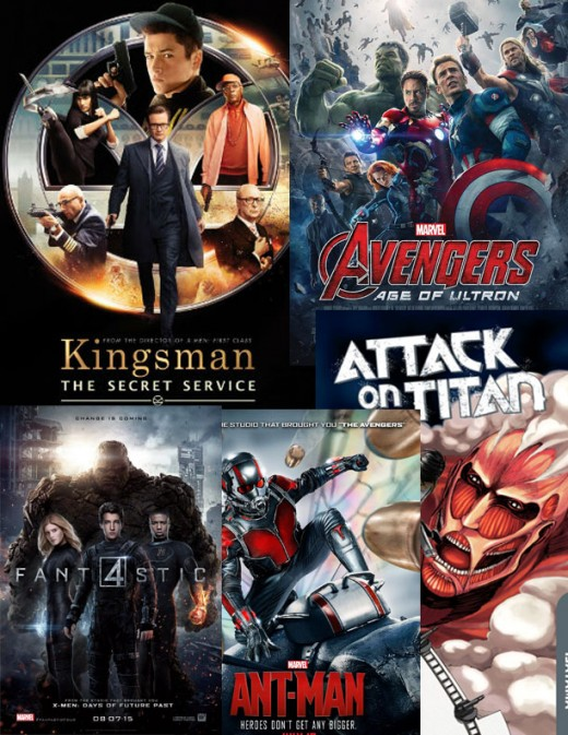 There were five comicbook movies in 2015