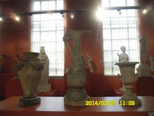 Ornate Vase, Plaster of Paris  Wine Pitcher, Plaster Cast Vase with Garlands, Plaster of Paris; ISABELO L. TAMPINCO