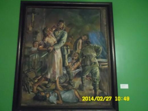 Rape and Massacre in Ermita; DIOSDADO M. LORENZO; Oil on canvas