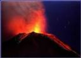 Popo erupts at night year 2000.  Beautiful but deadly