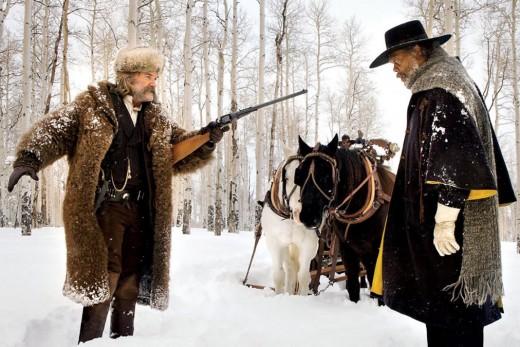 John Ruth (Kurt Russell) and Maj. Marquis Warren