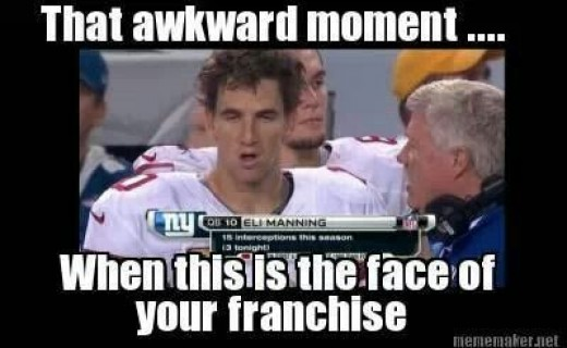 New York Giants QB Eli Manning