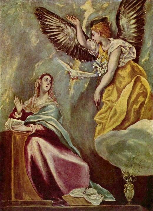 Artist: El Greco (1541–1614) Title:The Annunciation Medium:oil on canvas