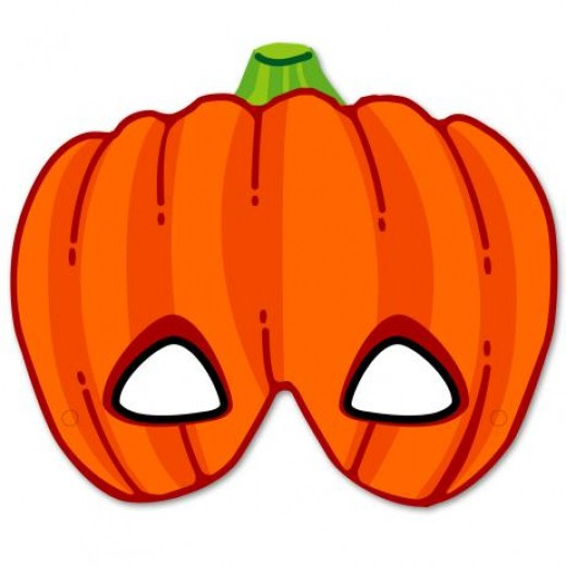 Print out this pumpkin mask for some Halloween fun with your kids.
