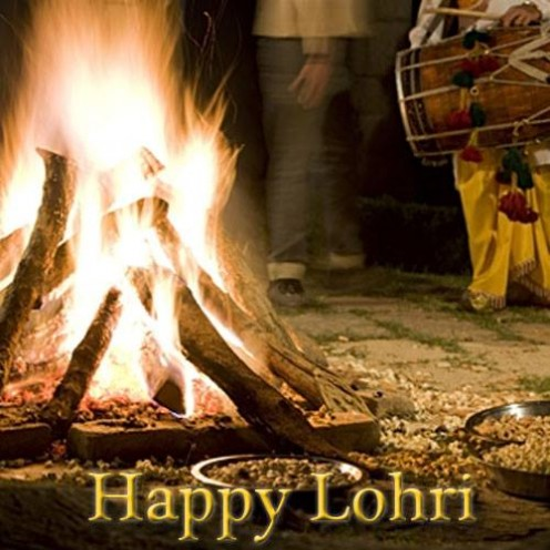 The Lohri Bonfire