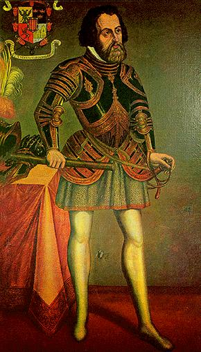 Spanish Conquistador Hernando Cortes - Along with Gold and Silver, he found Chocolate in Mexico.