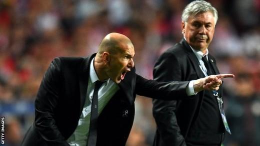 Zidane and Ancelotti