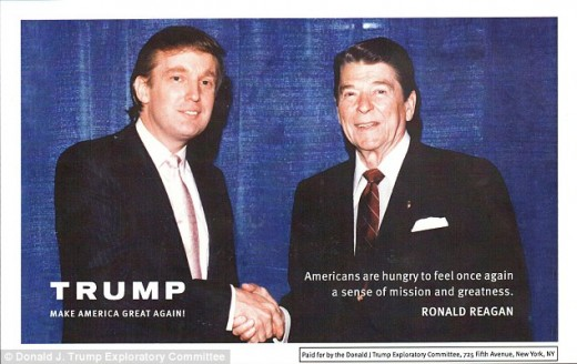 Donald Trump and Ronald Reagan.