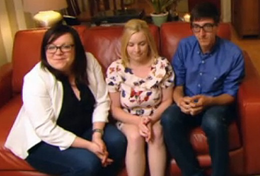 Awkward. The moment when Peter let rip. Picture: 'Come dine with Me' - Channel 4