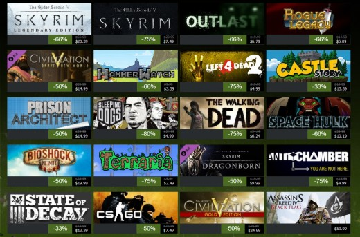 Steam Game Wall