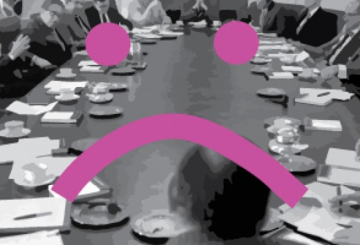 table of distant design deciders pondering the color fuchsia