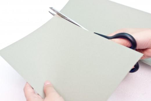 Cut your cardboard in half.