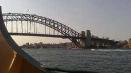 Back before he became famous Paul Hogan helped to paint the Sydney Harbor Bridge.