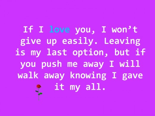 """If I love you..."""