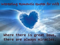 Interesting Romantic Quotes for Wife