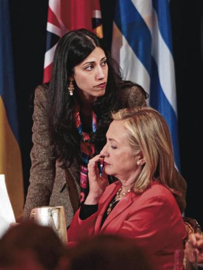 Hillary Clinton and Huma Abedin are never separated - they even share a hotel room when travelling