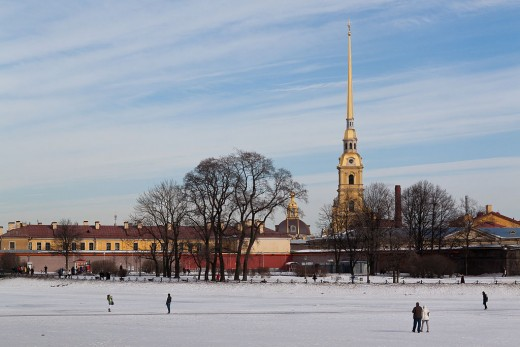Peter and Paul Fortress in the winter, Saint Petersburg