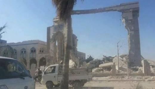 Battered Raqqa.