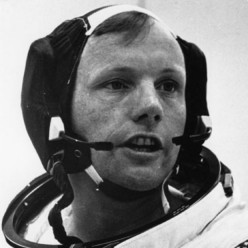 First Man on the Moon (the author describes the life of, and a meeting with, Neil Armstrong)