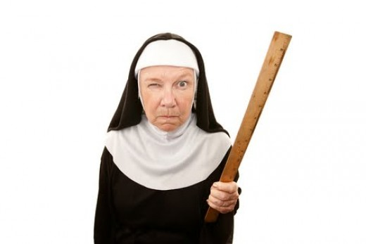 Online learning = zero percent chance of being spanked by a nun.