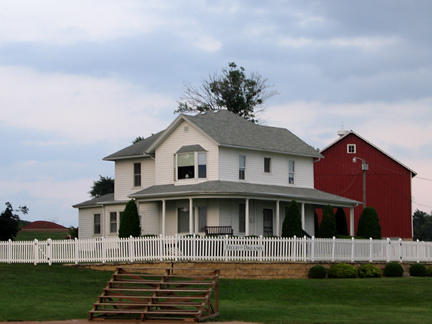 "The famous home from ""Field of Dreams"" with that beautiful, wrap-around porch. Is this heaven?"