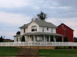 """The famous home from """"Field of Dreams"""" with that beautiful, wrap-around porch. Is this heaven?"""