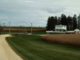 """View of the house from """"Field of Dreams"""" from the road ~ No, this is Iowa"""