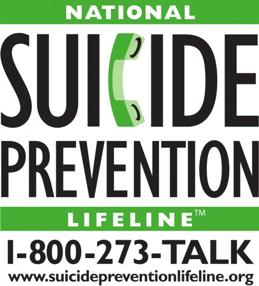 If you or someone you know is experiencing suicidal thoughts, please contact The Suicide Prevention LifeLine.