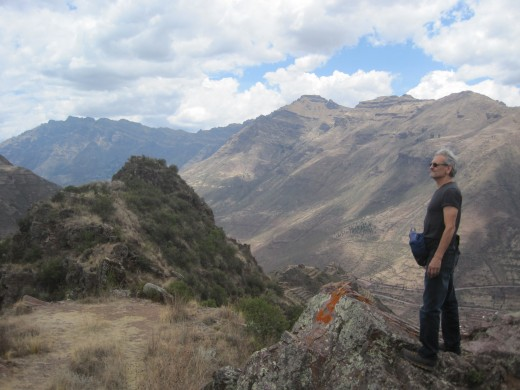 A great shot of John looking over the Sacred Valley.