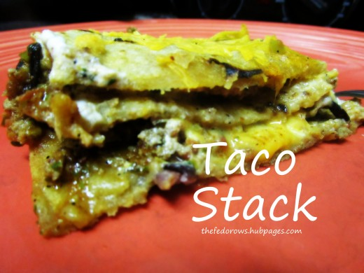 Layers of tortillas, ground turkey and black beans seasoned with taco seasoning, Italian dressing, and salsa, along with melted sour cream and cheese.  Sit down and savor dinner together tonight!