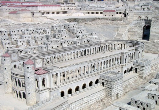 The Roman circus in Jerusalem at the time of Christ.