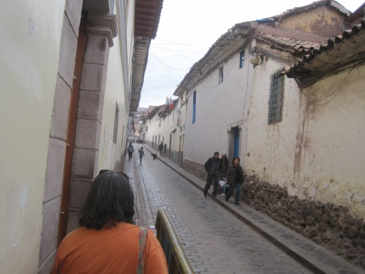 Walking down the streets of Cusco