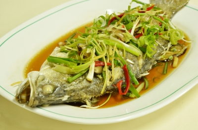 Whole fish is often served at Chinese New year because the word Yu means abundance.