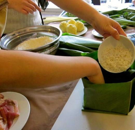 Chung Cake Preparation